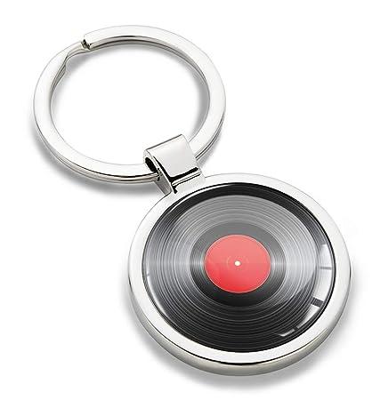 Llavero de Metal 3D con DJ Discos de Vinilo Record Party KK ...