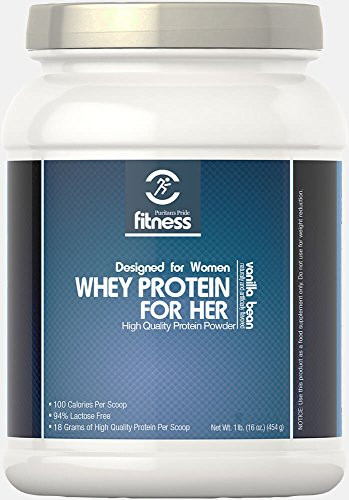 Puritan's Pride Fitness Whey Protein for Her Vanilla Bean-1 lb Powder For Sale