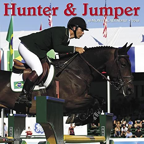 Amazon.: 2018 Hunter Jumper Horse Wall Calendar CUTE {jg