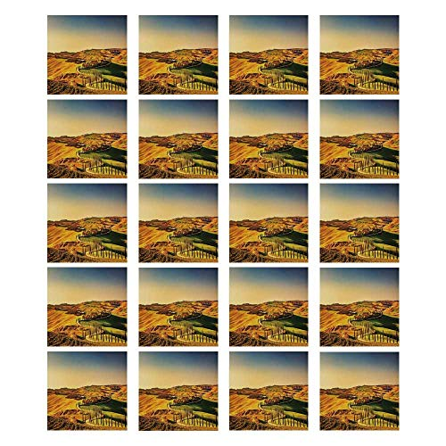 - Italy 3D Ceramic Tile Stickers 20 Pieces,Tuscany Crete Senesi Rural Landscape Cypress Trees Country Farmland Europe Decorative for Living Room Kitchen,7.8
