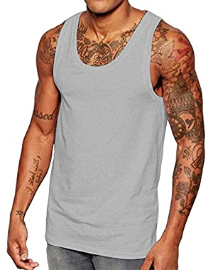 Men's Muscle Vest Scoop Neck Skinny fit Tank Tops