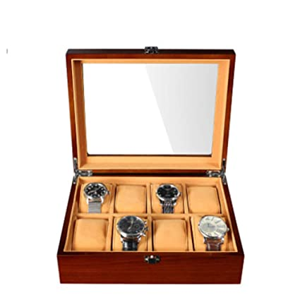 Mire La Caja De Almacenamiento De Madera Rectangular Caja De Reloj De Madera De La Tabla