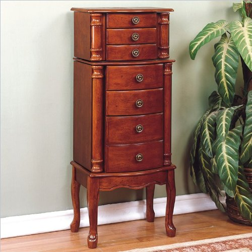 Brown Cherry Armoire - 1
