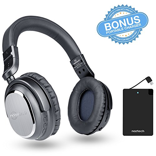 naztech i9 w power bank bundle bluetooth wireless active noise cancelling he. Black Bedroom Furniture Sets. Home Design Ideas