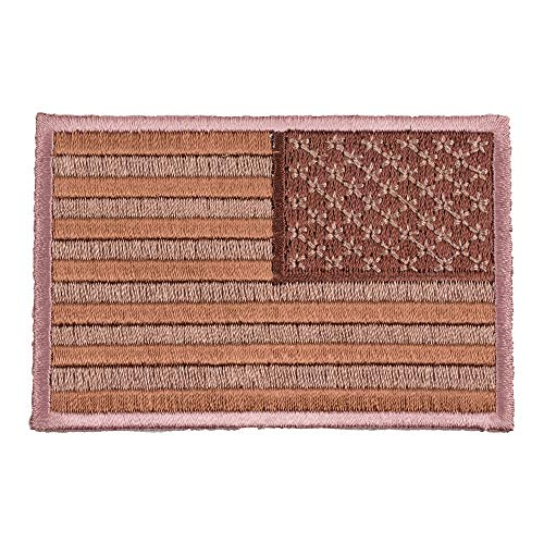 American Flag Desert Tan Reversed Patch, U.S. Flag Patches