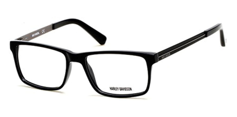 2a94bc248f2 Eyeglasses Harley Davidson HD 752 HD 0752 001 shiny black at Amazon Men s  Clothing store