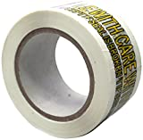 Absolute USA Printed Message Handle with Care Box Sealing Tape (TAPEYELLOW)
