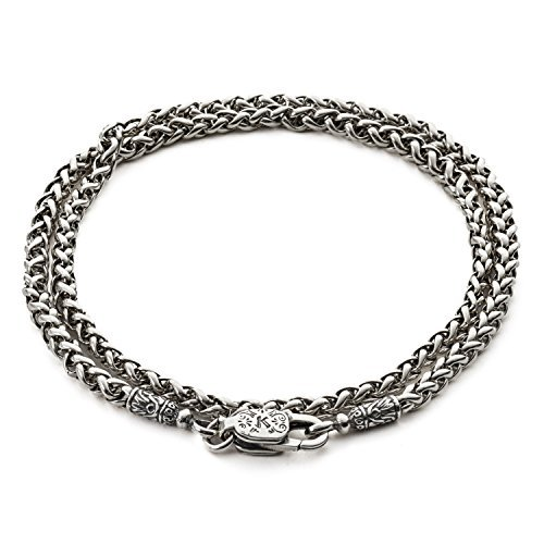 Konstantino Men's 925 Sterling Silver Wheat Chain, 20 Inches Long