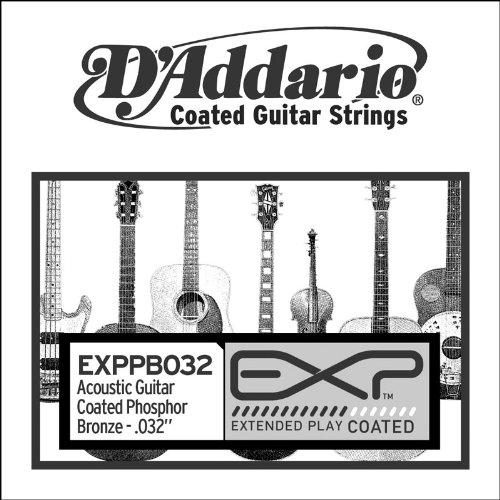 Exp Single - D'Addario EXPPB032 EXP Coated Phosphor Bronze Single String.032