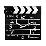 Ruigee Large Retro Movie Set Director Clapboard Wall Clocks Notepads Gifts Home Decor