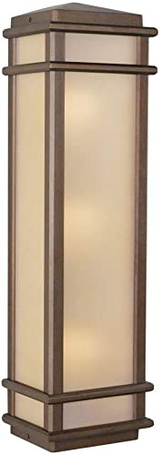 Feiss OL3404CB Mission Lodge Outdoor Lighting Wall Pocket Sconce, Bronze, 3-Light 7 W x 26 H 180watts