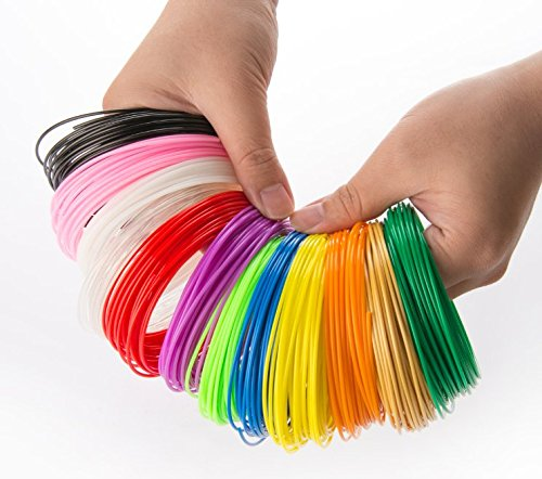 3Design 3D Pen Filament Refills. Assorted 15 Colors. Non-Toxic PLA Plastic 10 Feet Reel - Suitable for All 3D Pens. (Is What Of Density Pet The)