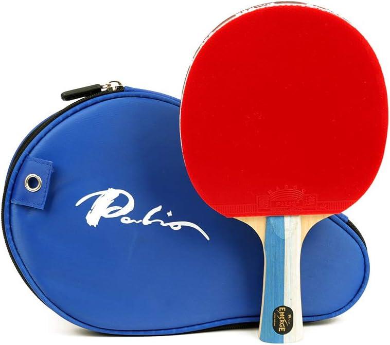 Palio Emerge Palio - Raqueta de tenis de mesa con goma Hadou | Mejor bate de tenis de mesa para nivel medio a alto | Bate aprobado por la ITTF
