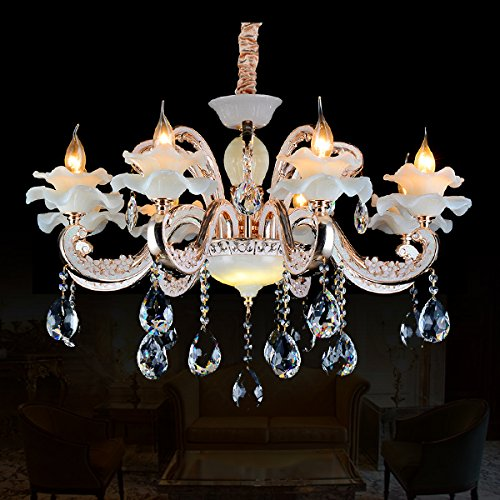 Light Eight Chandelier Modern (Modern K9 Crystal pendant chandeliers with 8 lights for dining room)