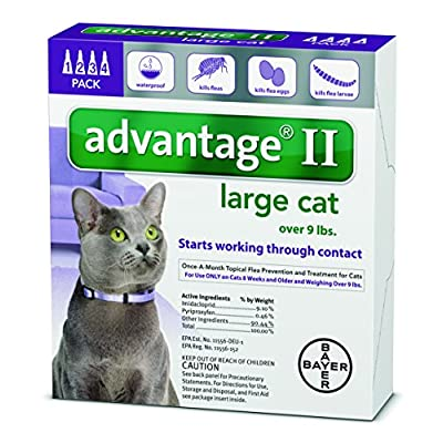 Cat Health Products Advantage 2 flea control for cats and kittens over 9 lbs 4 month... [tag]