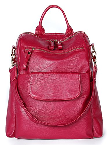 Pink Donna A rosa Red Nuclerl Zainetto 21 Borsa Backpack Pqw7vF