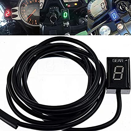 Amazoncom Instrumentsmotorcycle Lcd Electronics 1 6 Level Gear