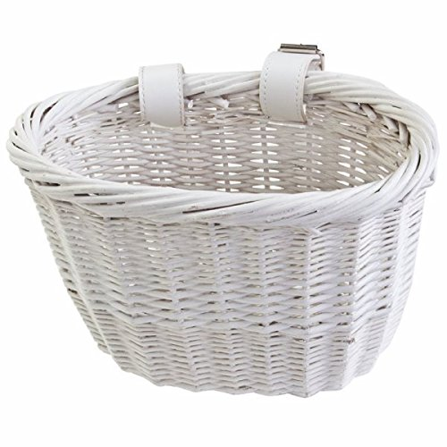 Sunlite Willow Bushel Strap-On Basket, 9.75 x 6 x 7.5, White