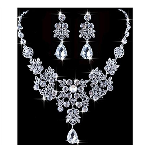 Usstore 1PC Women Wedding Jewellery Sets Fashion Bride Earrings Pendant Necklace Alloy Gift