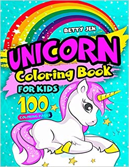 Amazon Fr Unicorn Coloring Book For Kids 100 Coloring