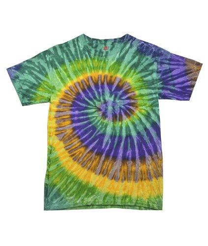 tie dye Adult Tie-Dyed Cotton Tee - Mardi Gras Spiral - (Mardigras Outfits)