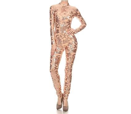 5c1e42a11d1e Amazon.com  Prima DND Sweetheart Sequin Jumpsuit  Clothing