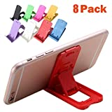 Easytoy 8 Pack Foldable Portable Multi-Angle Holder Tablet Dock Adjustable Foldable Cradle Portable Mini Desk Stand Fold-up Smartphone Stands Holders for Apple iPhone, iPad, Samsung, OnePlus
