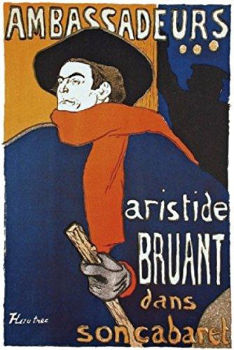 Henri De Toulouse-Lautrec Poster Adhesive Photo Wall-Print - Aristide Bruant Dans Son Cabaret (71 x 47 inches)