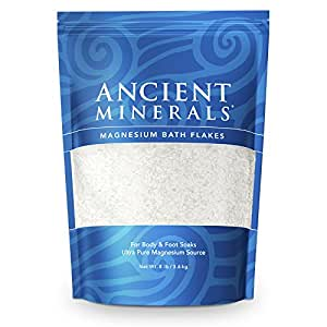 Ancient Minerals Magnesium Bath Flakes 8lb - Pure Genuine Zechstein Magnesium Chloride - Bath Salt Supplement - Best for Topical Skin Absorption in Bath and Foot Soaks