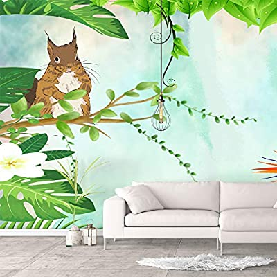 Wall Murals for Bedroom Green Plants Animals Removable Wallpaper Peel and Stick Wall Stickers, Professional Creation, Unbelievable Picture