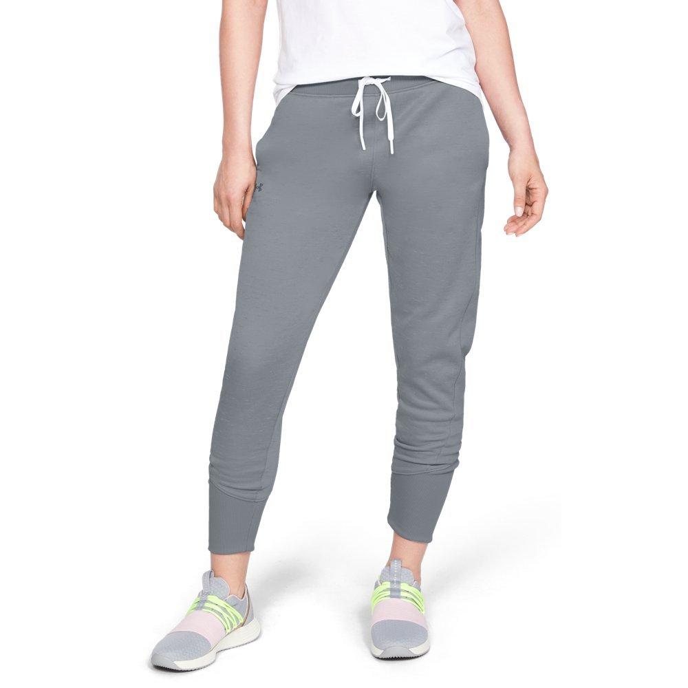 Under Armour Women's Synthetic Fleece Jogger Pant, Steel (035)/Tonal, Small