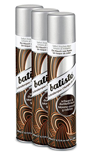 Batiste Dry Shampoo (3er Pack 2+1) - Trockenshampoo - Color dunkel-braun (3x200ml)