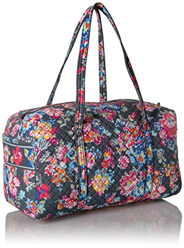 51dWvW7k6vL - Vera Bradley Iconic Large Travel Duffel, Signature Cotton, Pretty Posies