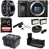 Sony Alpha a6500 24.2MP Wi-Fi Mirrorless Camera 16-50mm Power Zoom Lens (Black) + 128GB Video Bundle