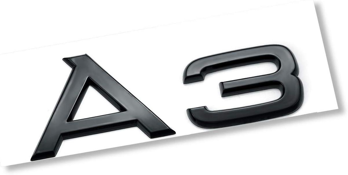 A6 Bright black AUTO-P automotive ABS plating logo for A6 conversion