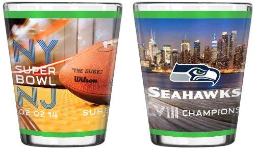 Boelter Brands NFL 2014 Super Bowl XLVIII Champion 2-Ounce Sublimated Shot Glass Champions 2 Oz Shot Glass