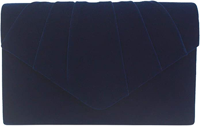 Vintage Handbags, Purses, Bags *New* ZIUMUDY Elegant Velvet Envelope Pleated Clutch Bags Wedding Evening Shoulder Chain Handbags $14.99 AT vintagedancer.com