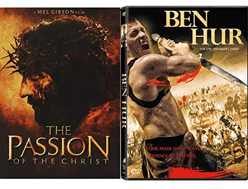 - Power Betrayal & Revenge - Ben Hur Epic Mini Series Event & The Passion of the Christ 2-DVD Film Bundle