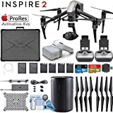 DJI INSPIRE 2 Drone and DJI FPV Goggles Combo with Zenmuse X4S 3-Axis Gimbal/Camera - Apple ProRes License Key - Dual Remote Bundle