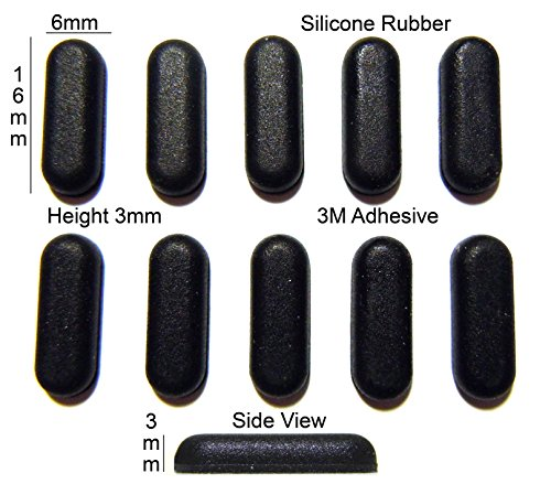 Silicone Rubber Feet 16mm(L) x6mm(W) x 3mm(H) Self Adhesive 10pcs [RB176]