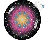 Bargain World Burst Paper Dinner Plates (With Sticky Notes)