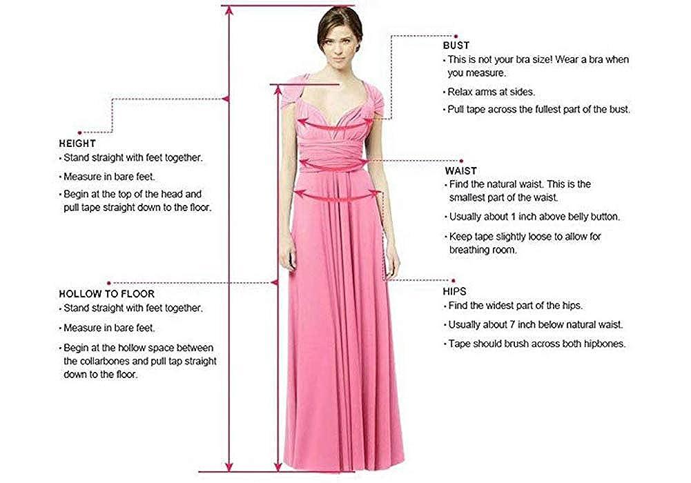 Yeenueer Womens V Neck Short Sleeves Bridesmaid Dresses Beach Wedding Evening Gowns YNR61