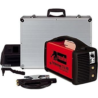 Telwin Technology 216 MPGE - Soldadora electrodos MMA inverter: Amazon.es: Industria, empresas y ciencia