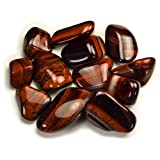 Hypnotic Gems Materials: 18 lbs Bulk Tumbled Red Tiger Eye Stones from South Africa - Natural Polished Gemstone Supplies for Wicca, Reiki, and Energy Crystal HealingWholesale Lot