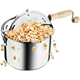 Great Northern Popcorn Original Stainless Steel Stove Top 6-1/2-Quart Popcorn Popper
