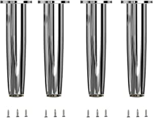 Adjustable Furniture Legs Set of 4 Metal Cabinet Feet Stands Table Legs Support with Screws for Home Ktichen Table, Desk, Sofa, Couch & TV Cabinet Use (6inch/15cm)