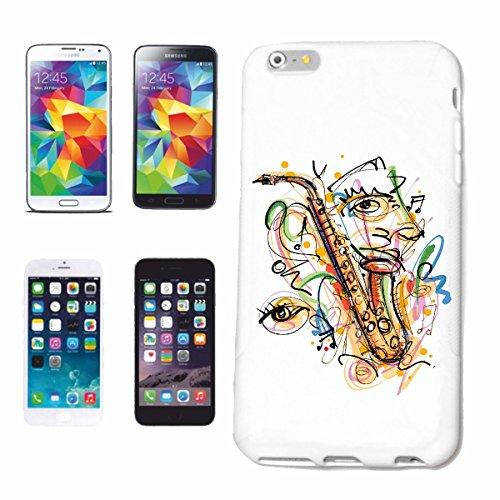 """cas de téléphone iPhone 7S """"SAX TECHNO VINTAGE JAZZ FUNKY SOUL TRANCE FESTIVAL HOUSE HIPHOP HIP HOP DJ"""" Hard Case Cover Téléphone Covers Smart Cover pour Apple iPhone en blanc"""