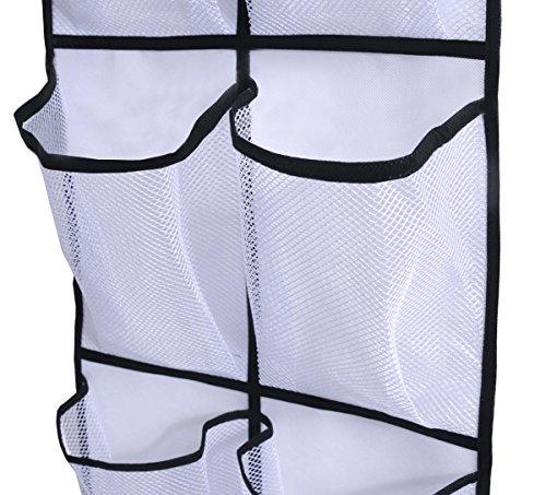 Misslo over the door shoe organizer 12 large mesh pockets for 12 pocket over the door shoe organizer