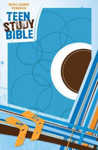 KJV, Teen Study Bible, Imitation Leather, Blue/Brown