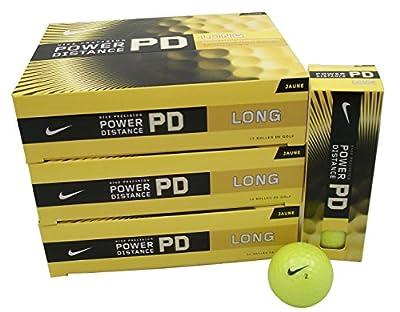 NIKE 3 Dozen NEW Power Distance Long Golf Balls Yellow 36 Retail: $75.00